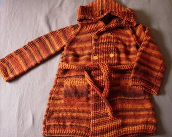 Brown and orange coat T44
