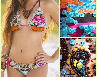 Southwest Bikini, Fringe Bikini, Seminole Bikini, Aztec Bikini, Cheeky Bikini,  Sexy Bikini, Animal Print Bikini, Cute Swimsuit! Floridita