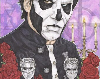Ghost BC Papa Emeritus III Nameless Ghouls Music Poster Print Artist Chris Oz Fulton