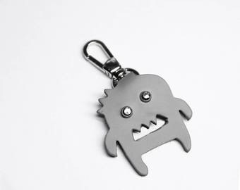 Leather Key Chain Keychain Monster Funny Minimalist Bespoke