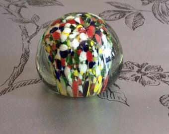 Pretty Hand Blown Indian Paperweight