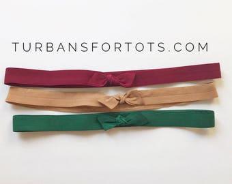 Jewel Tones Set : of elastic headband