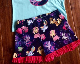 My little pony mermaid shorts