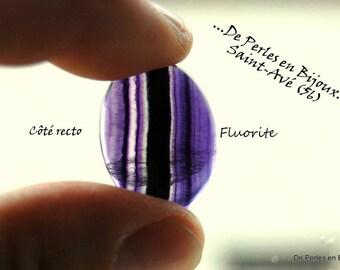 Natural purple FLUORITE stones 26X20X5mm CABOCHON