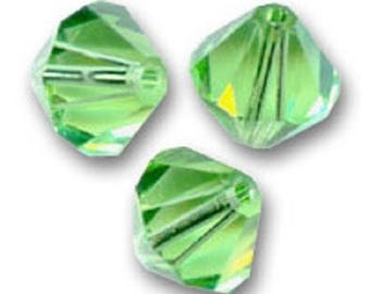 1 lot 10 bicones 6 mm peridot Swarovski Crystal bead
