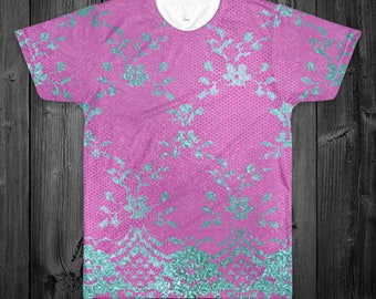 Lace Print All Over Shirt (Two Sided)