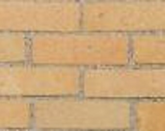1000 1:12 Gault / Cream Dolls House Brick Slips