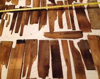 Vintage Wood Shingles Variety of Sizes Vintage Art Recycle Lot of 30 Plus