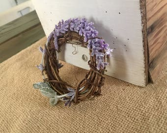 Grapevine Lavender Napkin Rings Set of Four