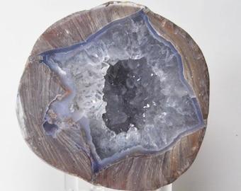 Polished Dugway Chalcedony Quartz Geode