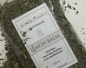 Dried Lemon Balm, Dried Herbs, Lemon Balm, Dried Herb, Herbal Tea, Aromatherapy, Natural Tea, Organic Lemon Balm, Melissa officinalis