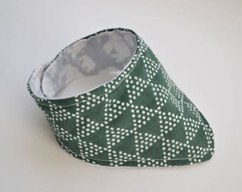 Organic Cotton Forest Green Reversible Bandana Bib