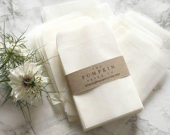 50 Seed Envelopes Wedding Favors Glassine Favor Translucent Packets Coin
