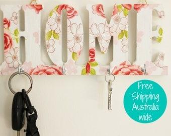 Shabby key rack, Key hook rack, Key hanger, New home gift, Wedding gift, Anniversary gift, Entryway key holder, Family key holder, Gift