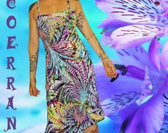 Asymmetric tunic, short dress, dress, sundress dress 'Holidays...'