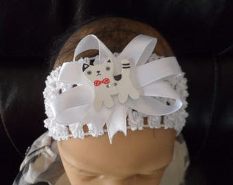 """Cat"" (0-4 years old) baby headband"