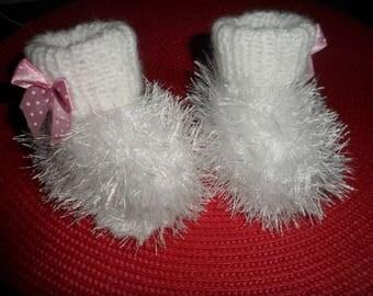 Booties baby or reborn woolen (0-3 months)