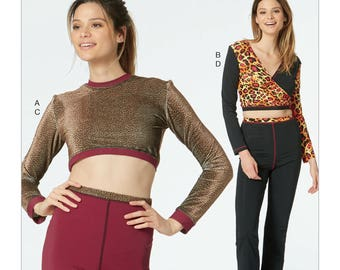 McCall's Sewing Pattern M7633 Misses' Fitness Tops, Shorts, and Pants