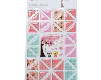 corners and decorative scrapbooking stickers