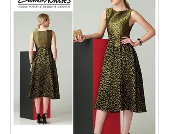 Vogue Pattern V1566 Misses' Fit-and-Flare Sleeveless Dress