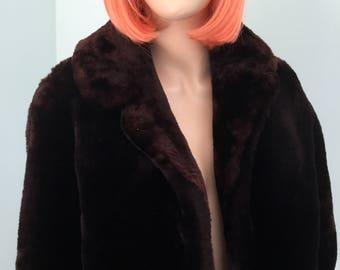 Mouton Sheepskin Fur Jacket, Size S-M