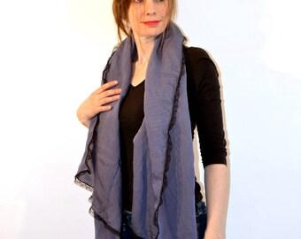 blue grey scarf