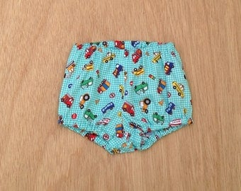 Diaper covers for boys, diaper cover trucks, size 3 6 12 18 months, diaper cover, baby boy clothes, baby boy gift, baby shower boy