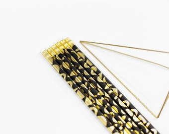 Shapes Gold Foil Pencils - Set of 6
