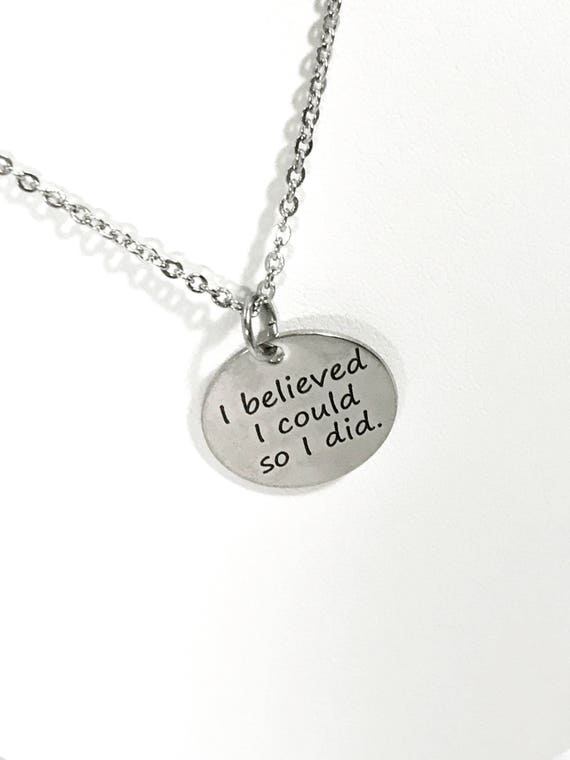 Success Gift, I Believed I Could So I Did Necklace, Successful Woman Gift, Encouragement Gift, Direct Sales Team Gift, Gift For Her