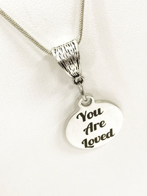 Love Jewelry, You Are Loved Necklace, You Are Loved Jewelry, Love Gifts, God Loves You, Christian Love Gift, Daughter Love Jewelry