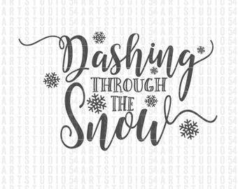 Dashing Through the Snow - Digital File - Clip Art - SVG, PNG, JPG, - Personal and Commercial Use - Artstudio54