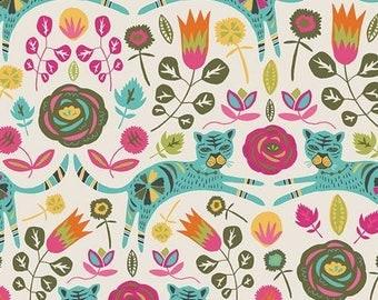 Tallinn by Jessica Swift of Art Gallery fabrics, Tigris Lollipop cotton spandex knit
