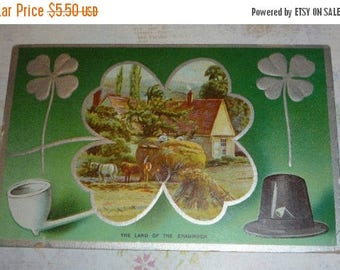ON SALE till 7/28 Land of the Shamrock Antique St. Patrick's Day Postcard