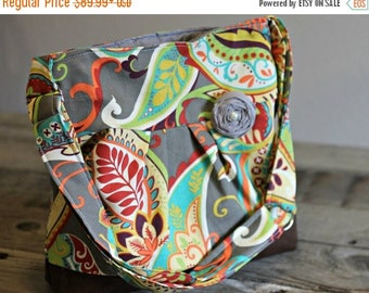 CHRISTMAS SALE Concealed Carry Purse, Medium Messenger Bag, Paisley, Conceal Carry Handbag, Concealed Carry Purse, Conceal and Carry
