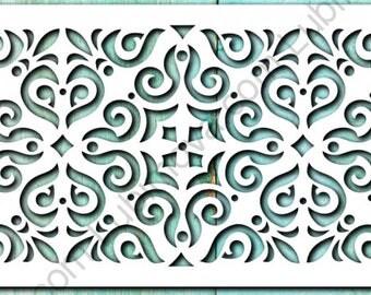 """Cake Stencil """"The Pattern of the Victorians"""", Stencil for cake, Sugar Cake Stencil, Stencil Lubimova.com,  Fondant Stencil"""
