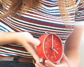 Alarm clock, red