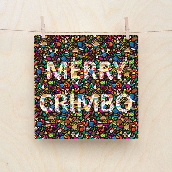 Merry Crimbo, Funny Christmas card, Foodie Christmas Cards