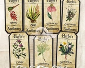 80% Off Spring Sale Medicinal Herbs Apothecary Labels Digital Images for Tags Vintage Ephemera Scrapbook Cardmaking Journaling Decoupage Cli