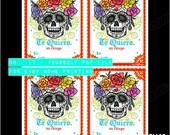 DIY: Te Quiero Un Chingo Sugar Skull Valentine // PDF Instant Download
