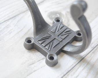 Cast iron Union Jack hook