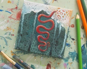 Fifteen: Small Snake Painting