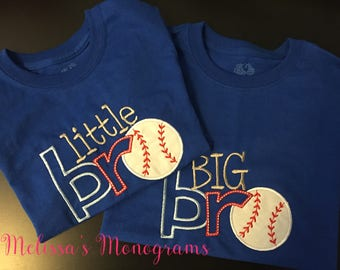 Embroidered Little Brother/Big Brother Set of 2 Shirts