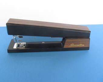 Swingline Metal Stapler - black with brown - Vintage Office  Supply