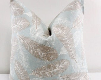 sale blue feather pillow cover flock spa blue light blue and white feather