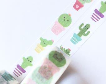 Cute Cacti Washi Tape 15mm x 10m