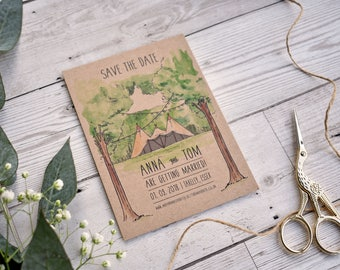 Tipi Wedding Save The Date