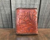 1970's Handmade Tooled Leather Wallet/Card Holder