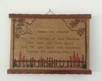 Vintage Scripture Wall Hanging