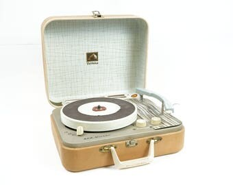 1950's Rca Victor Victrola Portable record Player- Model 1- EMP-@K