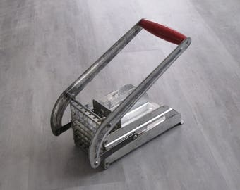 Vintage Metal French Fry Cutter